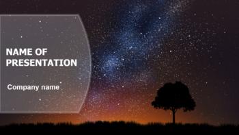 Quiet Starry Night PowerPoint template