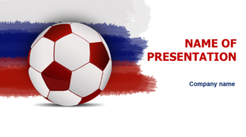 Rusia Soccer PowerPoint template