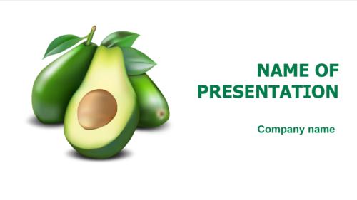 Tasty Avocado PowerPoint template