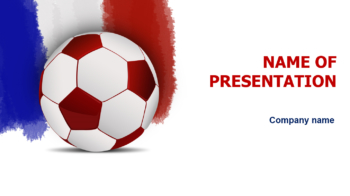 France Soccer PowerPoint template