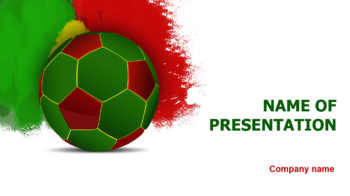 Portugal Soccer PowerPoint template