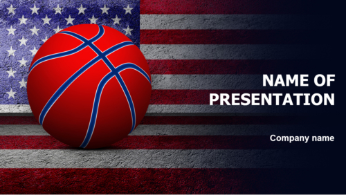 American Basketball Players PowerPoint theme