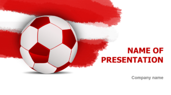 Austrian Soccer Players PowerPoint theme