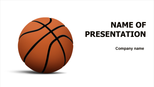 Basketball Players PowerPoint theme