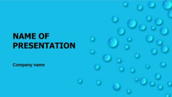 Blue Rain Drops PowerPoint theme