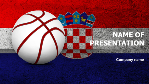 Croatian Basketball Players PowerPoint theme