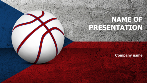 Czech Republic Basketball Players PowerPoint theme