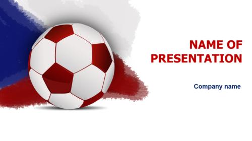 Czech Republic Soccer Players PowerPoint theme