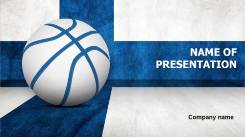 Finland Basketball Players PowerPoint theme