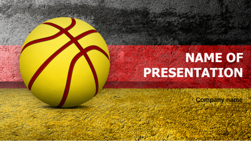 Germany Basketball Players PowerPoint theme