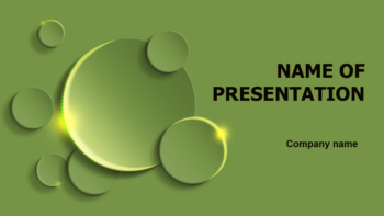 Green Round PowerPoint theme