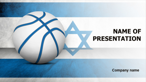 Israel Basketball Players PowerPoint theme