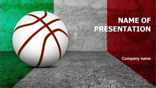 Italian Basketball Players PowerPoint theme