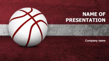 Latvian Basketball Players PowerPoint theme