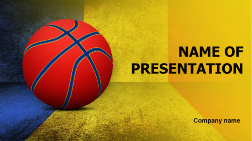 Romanian Basketball Players PowerPoint theme