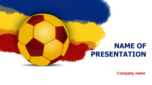Romanien Soccer Players PowerPoint theme