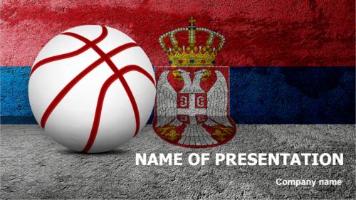 Serbian Basketball Players PowerPoint theme