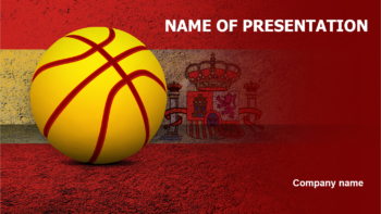 Spain Basketball Players PowerPoint theme