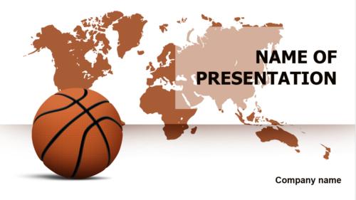 World Basketball Players PowerPoint theme