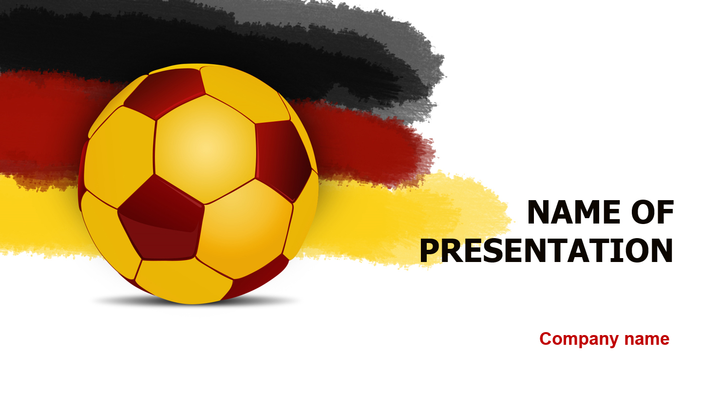 Germany Soccer Players powerpoint template presentation