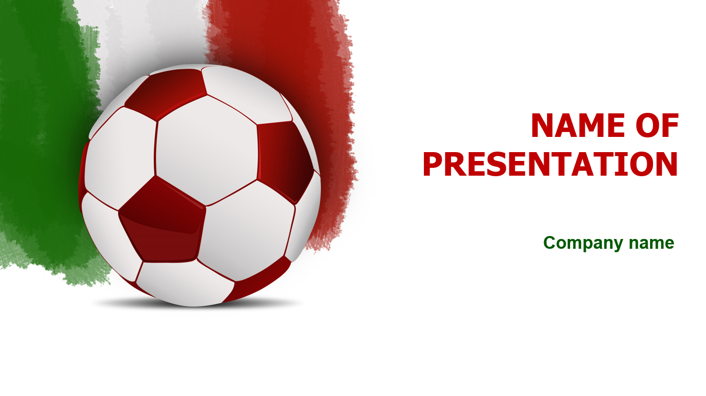 Italy Soccer Players powerpoint template presentation