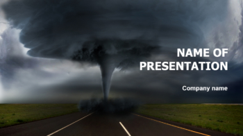 Strong Hurricane PowerPoint theme