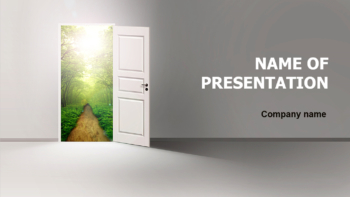 White Door Out PowerPoint theme