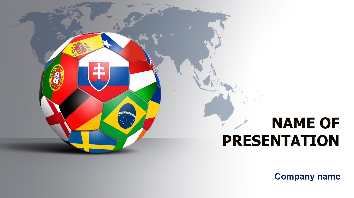 World Soccer Players powerpoint template presentation