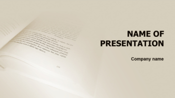 Writing Book PowerPoint theme