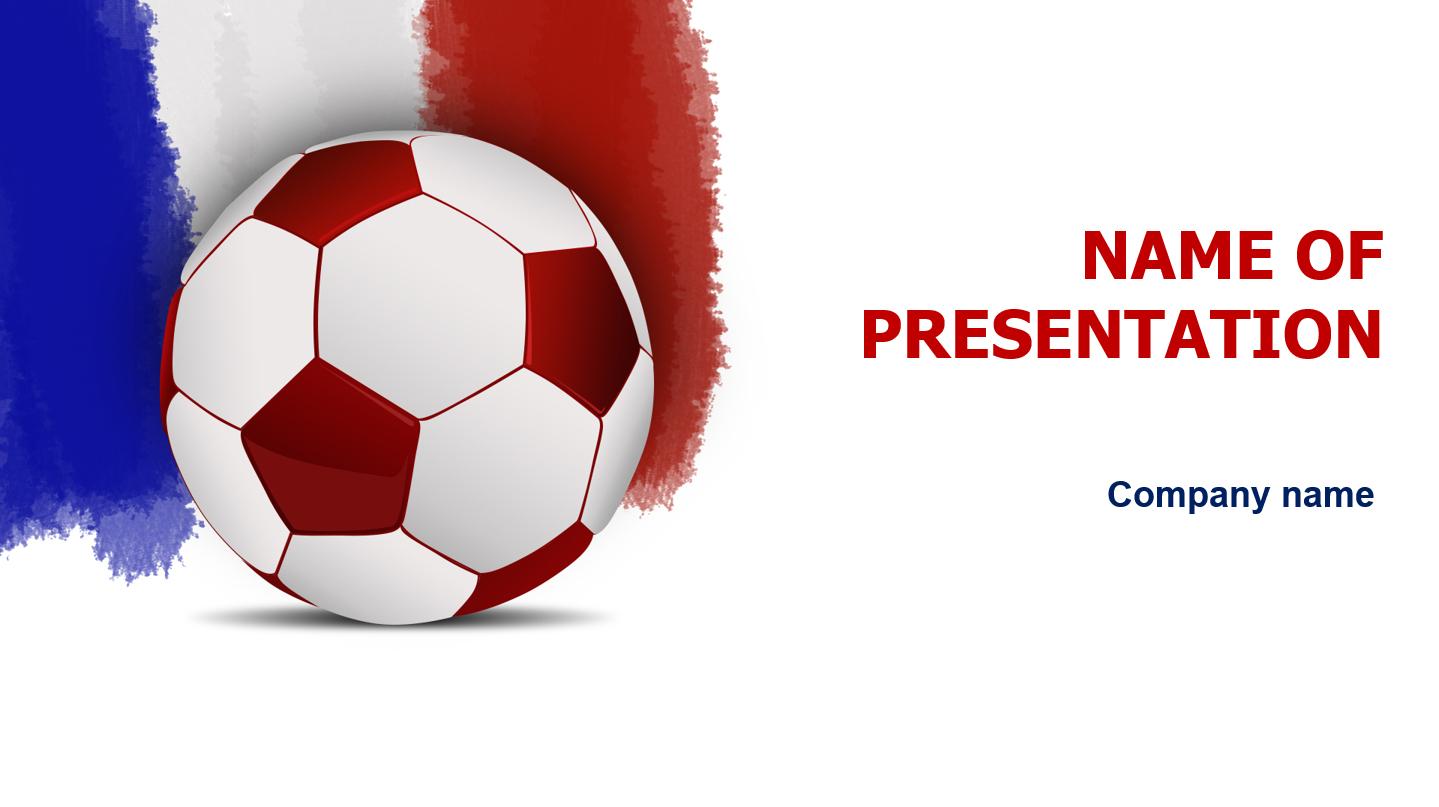 France Soccer powerpoint template presentation