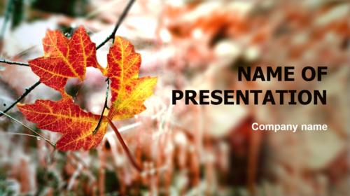 Autumn Love PowerPoint theme