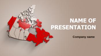 Canada Flag PowerPoint theme
