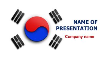 South Korea Flag PowerPoint theme