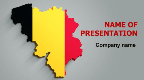 Belgium Flag PowerPoint theme