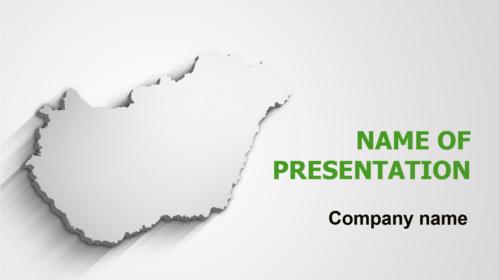 Gray Hungary Map PowerPoint theme