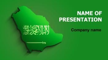 Saudi Arabia Flag PowerPoint theme