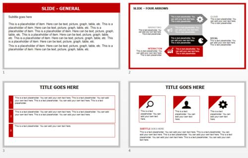 Japan Flag PowerPoint theme