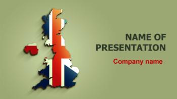 United Kingdom Falg PowerPoint theme