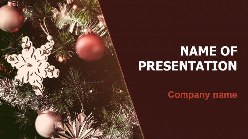 Christmas season PowerPoint theme