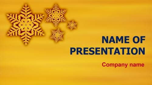 Golg Winter PowerPoint theme