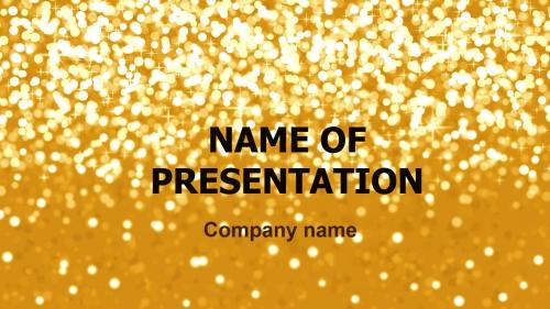 Shiny Snow PowerPoint theme