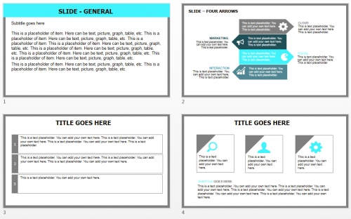 Snowing PowerPoint theme