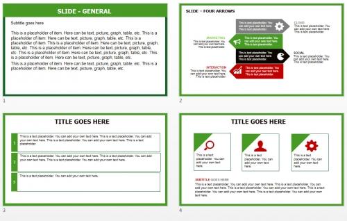 Green X-tmas Tree PowerPoint theme