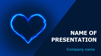 In Blue Heart PowerPoint theme
