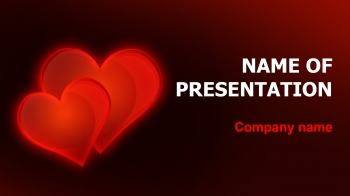 Valentines Hearts PowerPoint theme